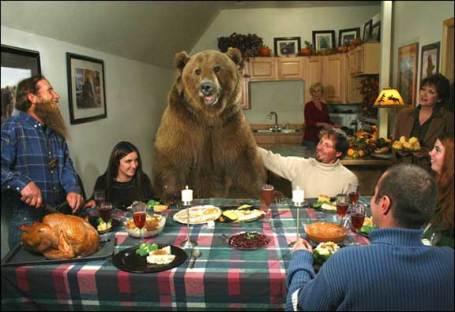 familia vive con oso