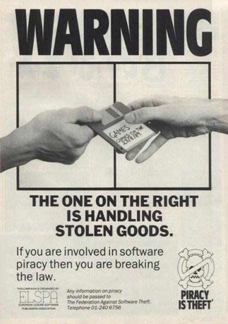 aviso contra la piratería